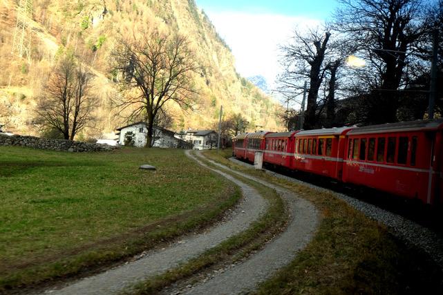 percorso trenino rosso del bernina