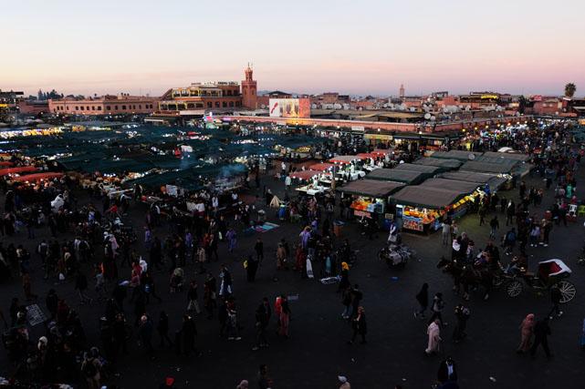 dove mangiare a marrakech in piazza