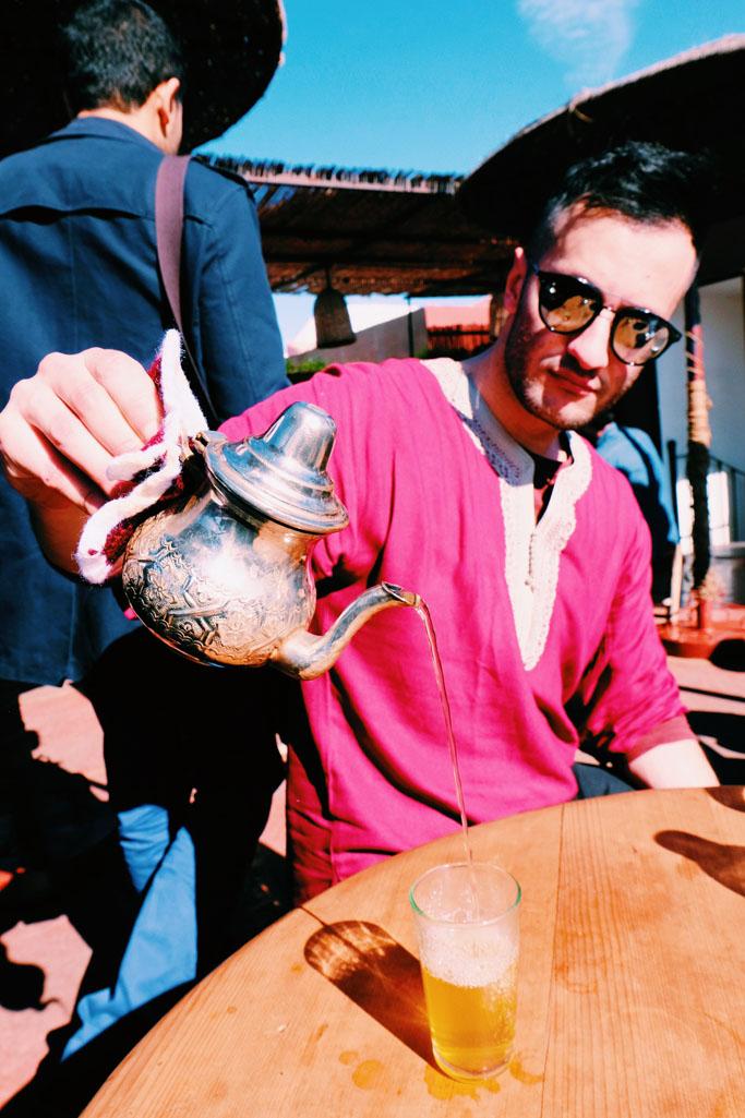 terrazza marrakech e tè alla menta