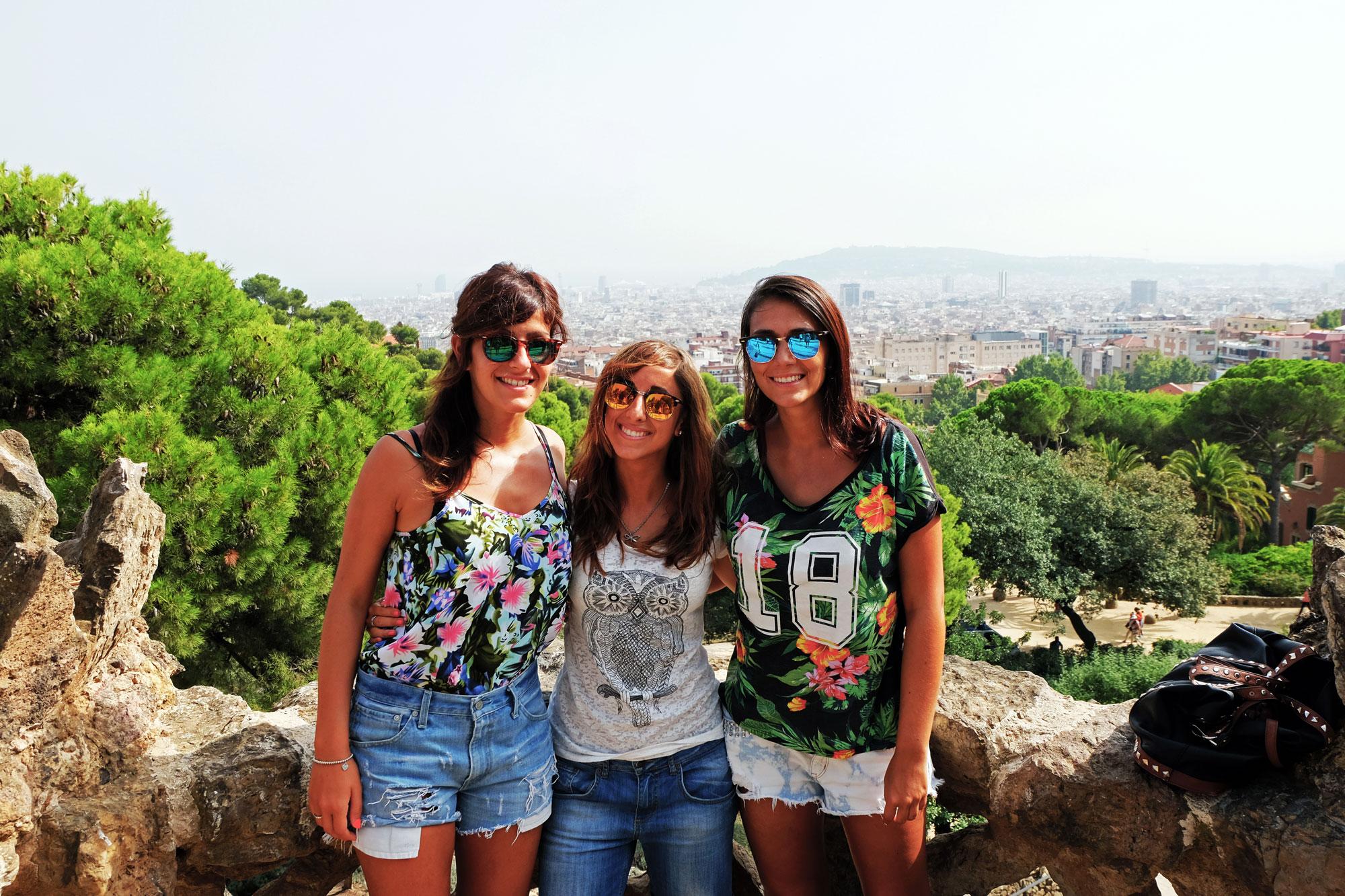 Parco Gaudi Barcellona amiche