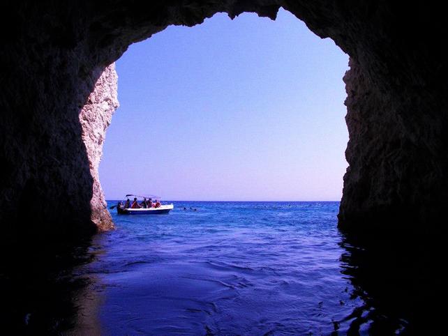 Zante grotte blu