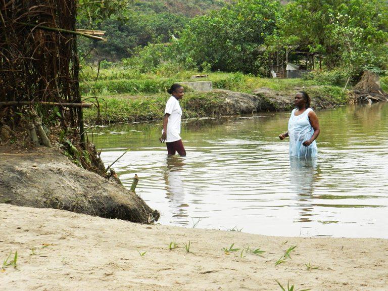 Bagno fiume Congo