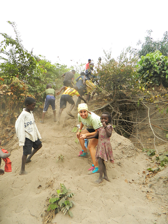 Congo palude bambino