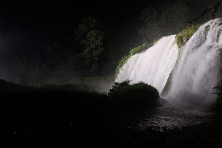 Cascate delle Marmore di notte