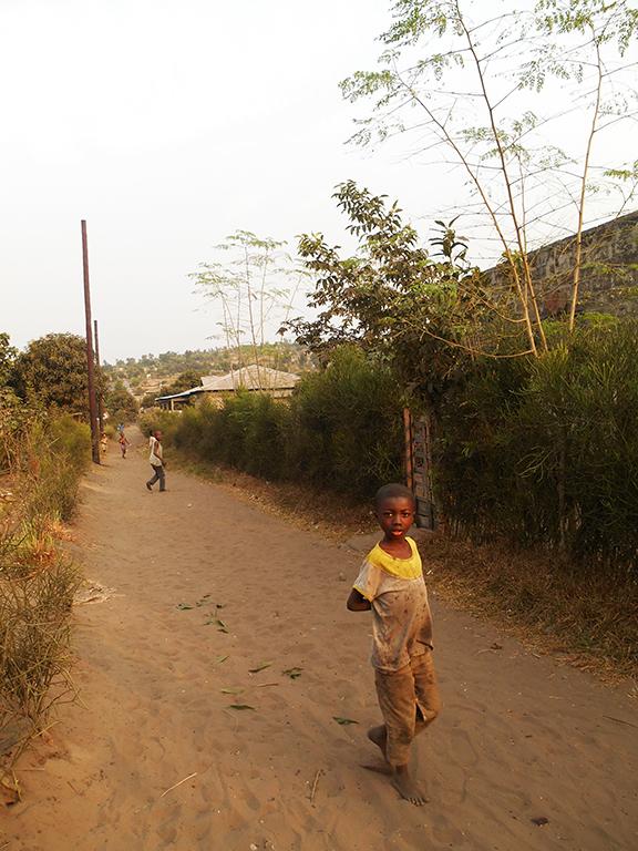 Strada di sabbia in Africa