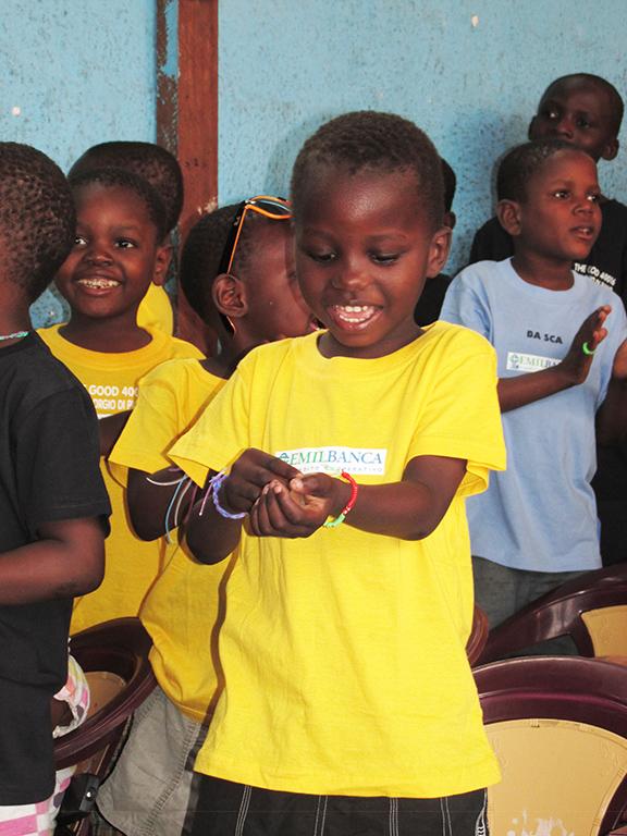 Bambino orfanotrofio Congo